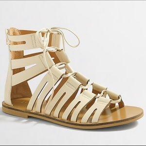 J Crew Lace Up Gladiator Sandals
